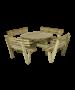 Rundt bord / bænkesæt